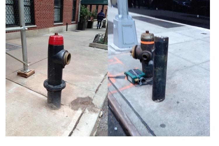 broken NYC fire hydrants