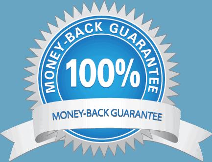 100% money-back guaranty seal